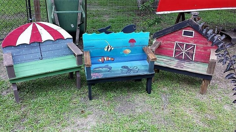 Pallet Benches for Kids