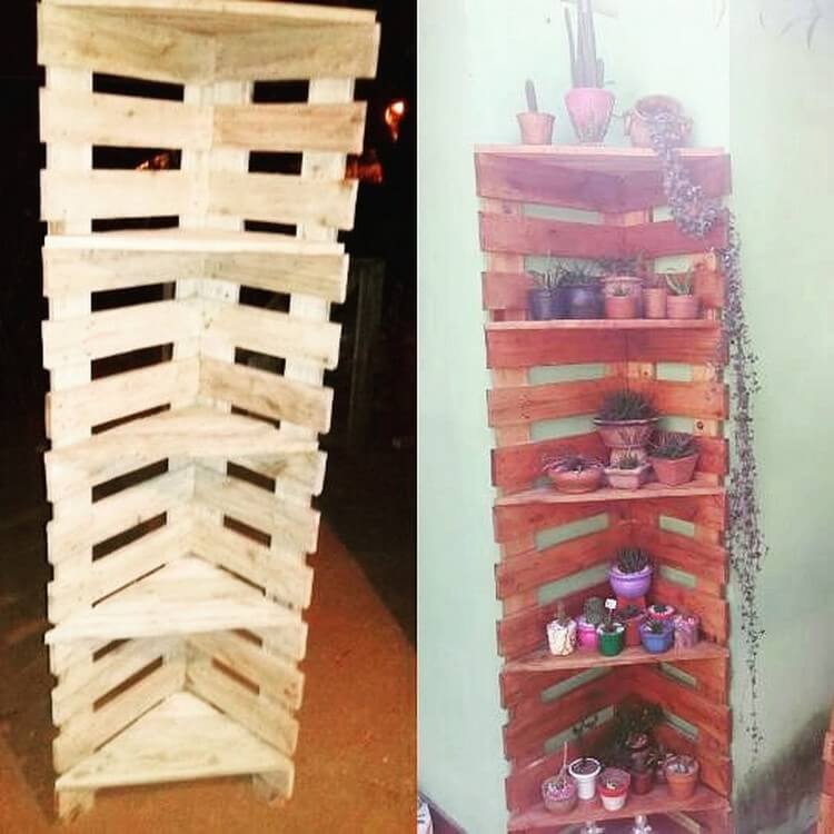 Pallet Corner Shelving Unit
