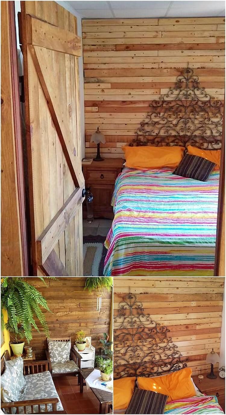 Pallet Door and Wall