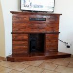 Pallet Fire Place TV Stand