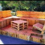 Pallet Terrace with Furniture