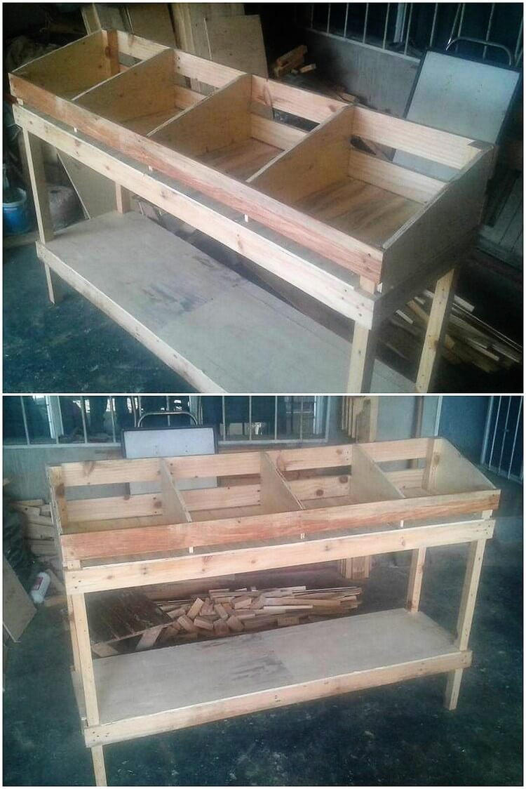 Pallet Vegetable and Fruit Racks
