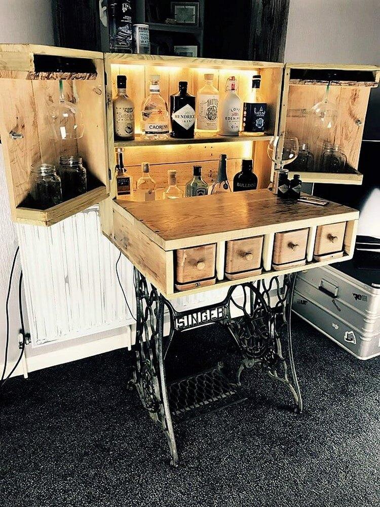 Pallet Wine Rack Table