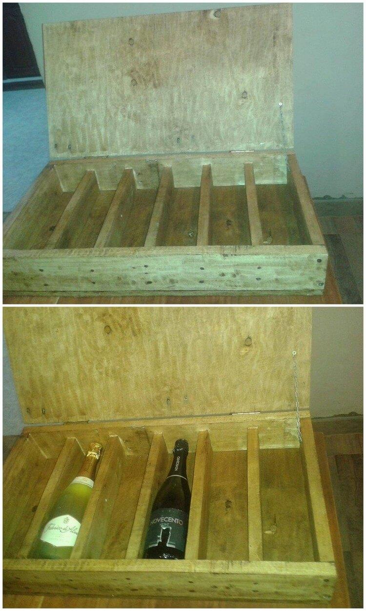Pallet Wine Storage Box