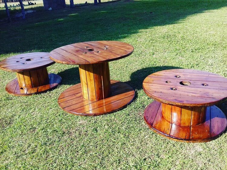 Pallet and Cable Reel Round Tables