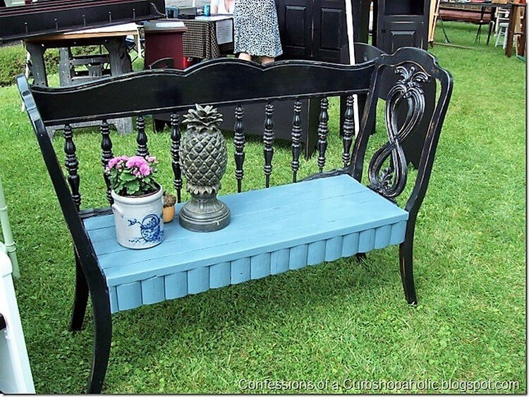 Recycled Headboard Bench Idea