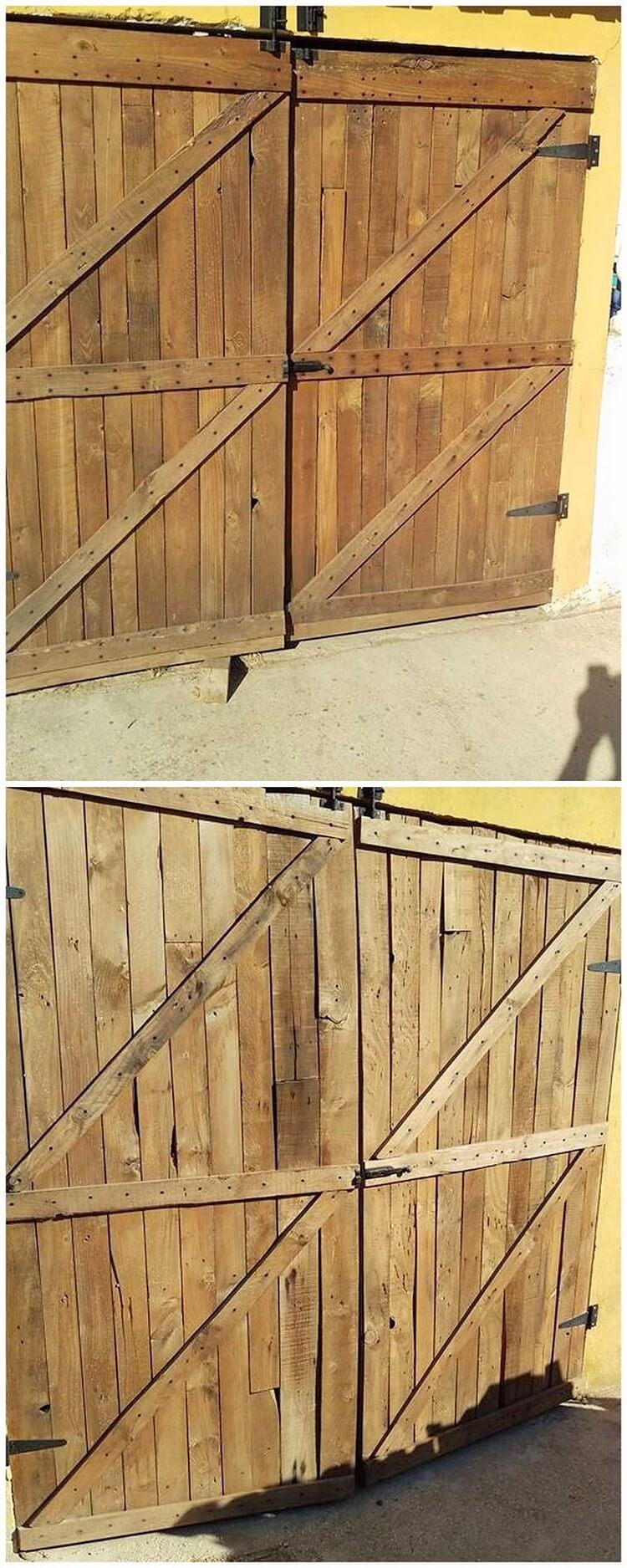 Recycled Pallet Sliding Door