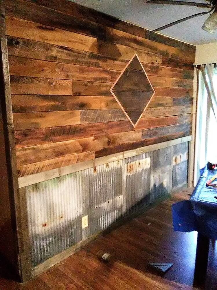Recycled Pallet Wall Cladding