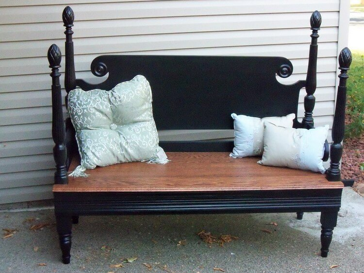 Recycling Old Headboard into Couch