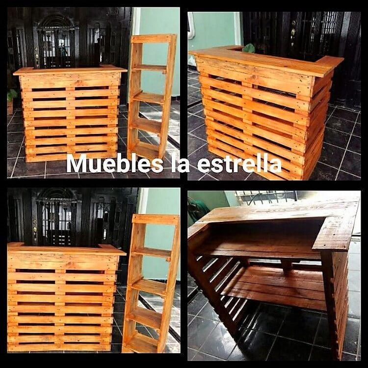 pallet bar bench excellent diy ideas with old shipping wood pallets recycled things