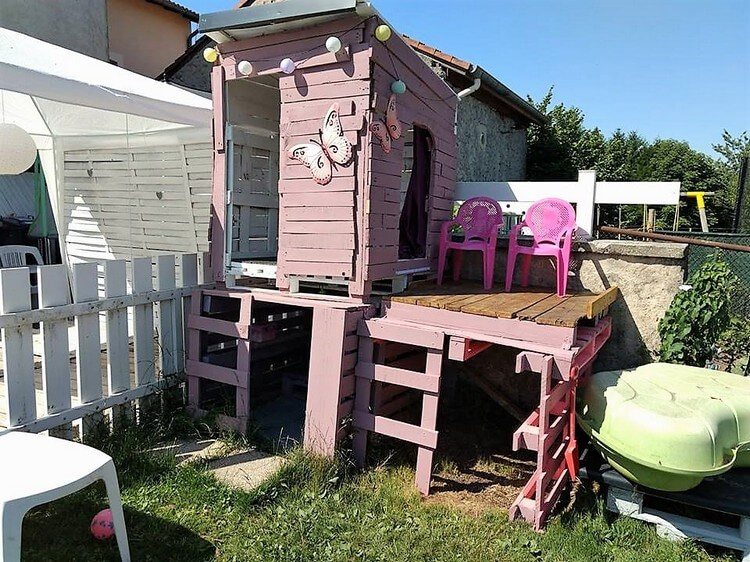 Wood Pallet Cabin or Playhouse for Kids