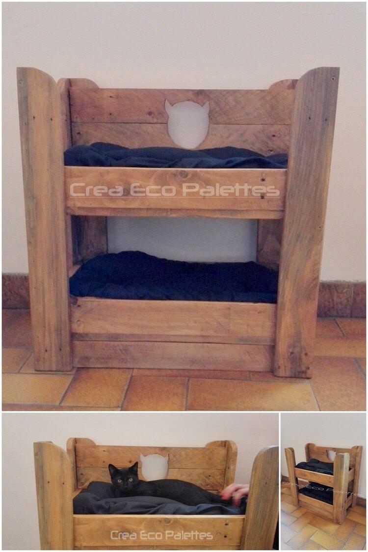 Wood Pallet Cat Bed