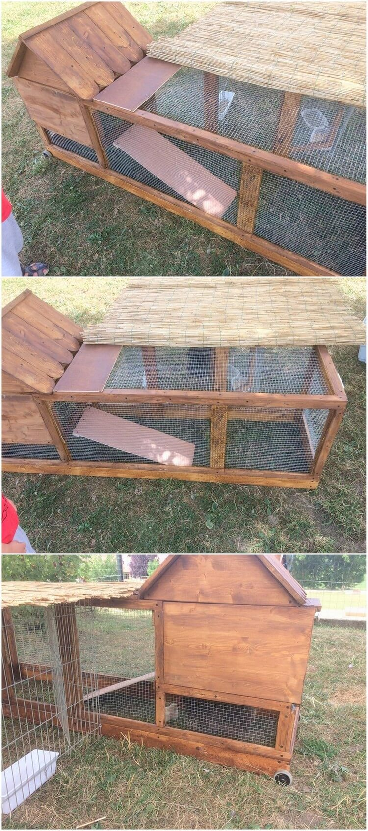 Imaginative ideas with old shipping pallets recycled things Chicken coop from pallet wood