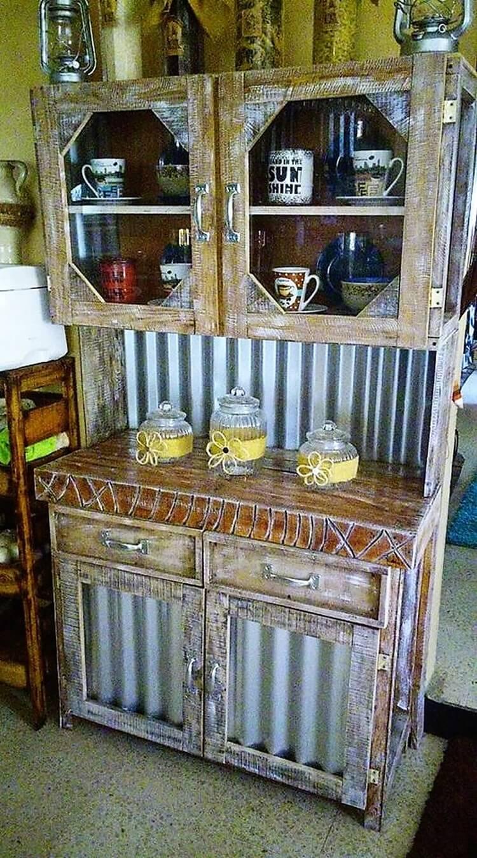 Wood Pallet Cupboard