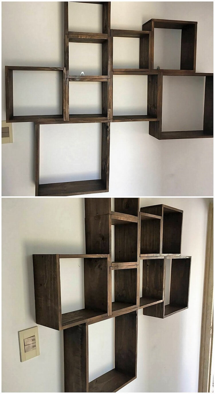 Wood Pallet Wall Shelf