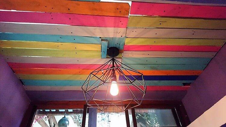 Wooden Pallet Ceiling