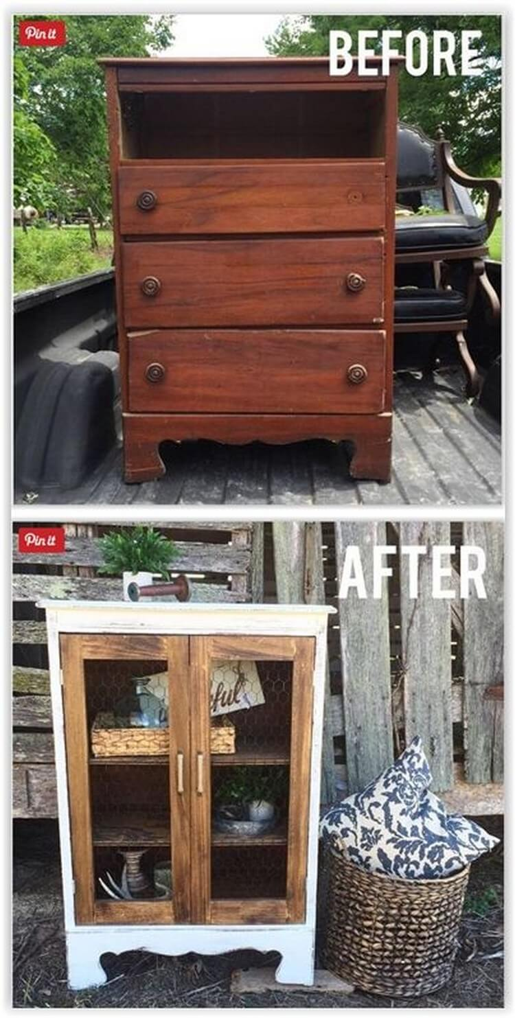 Chest of Drawers Before and After