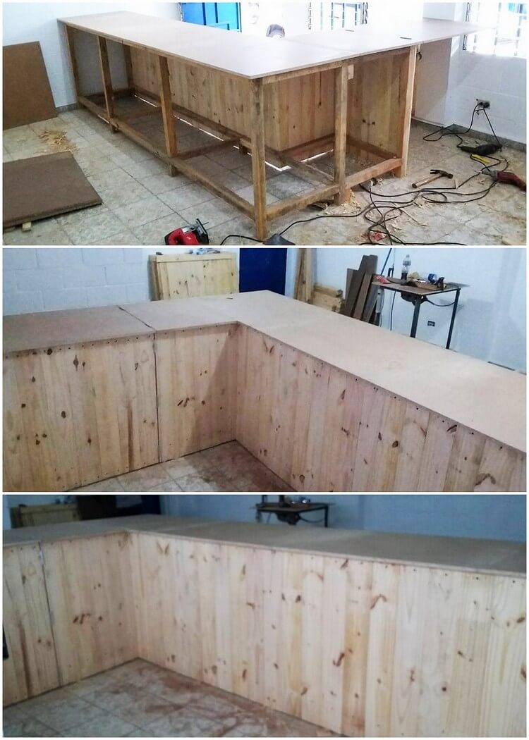DIY Pallet Cabinets