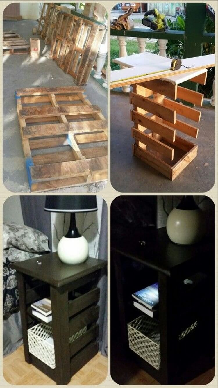 DIY Recycled Pallet End Table
