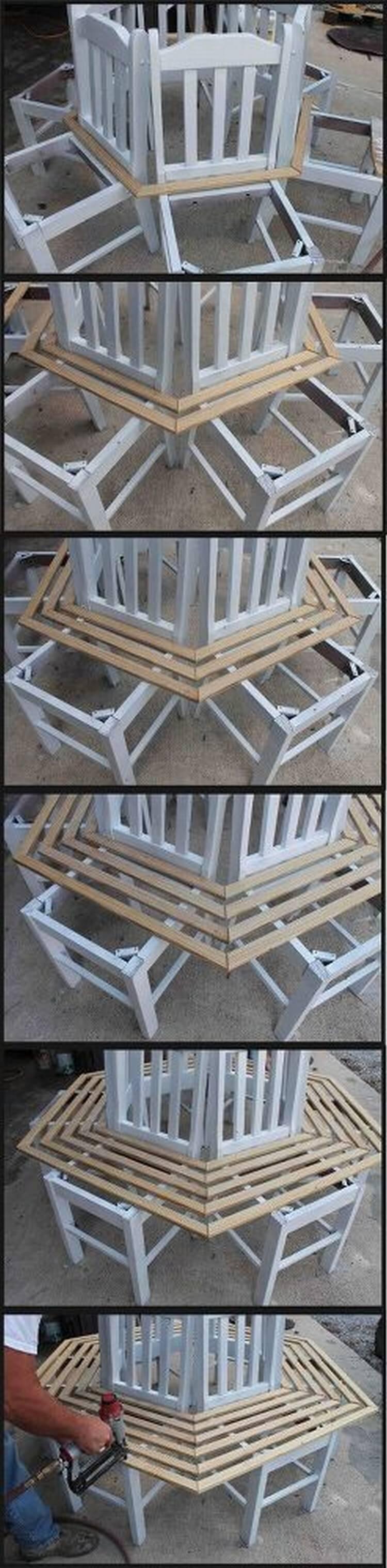DIY Step bu Step Round Bench