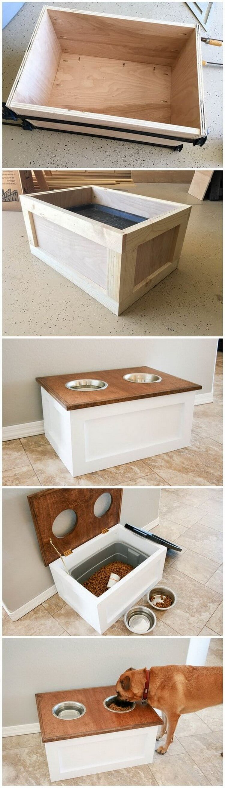 DIY Step by Step Pallet Dog Feeder