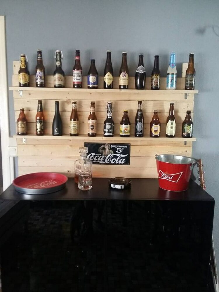 Pallet Bottles Shelf