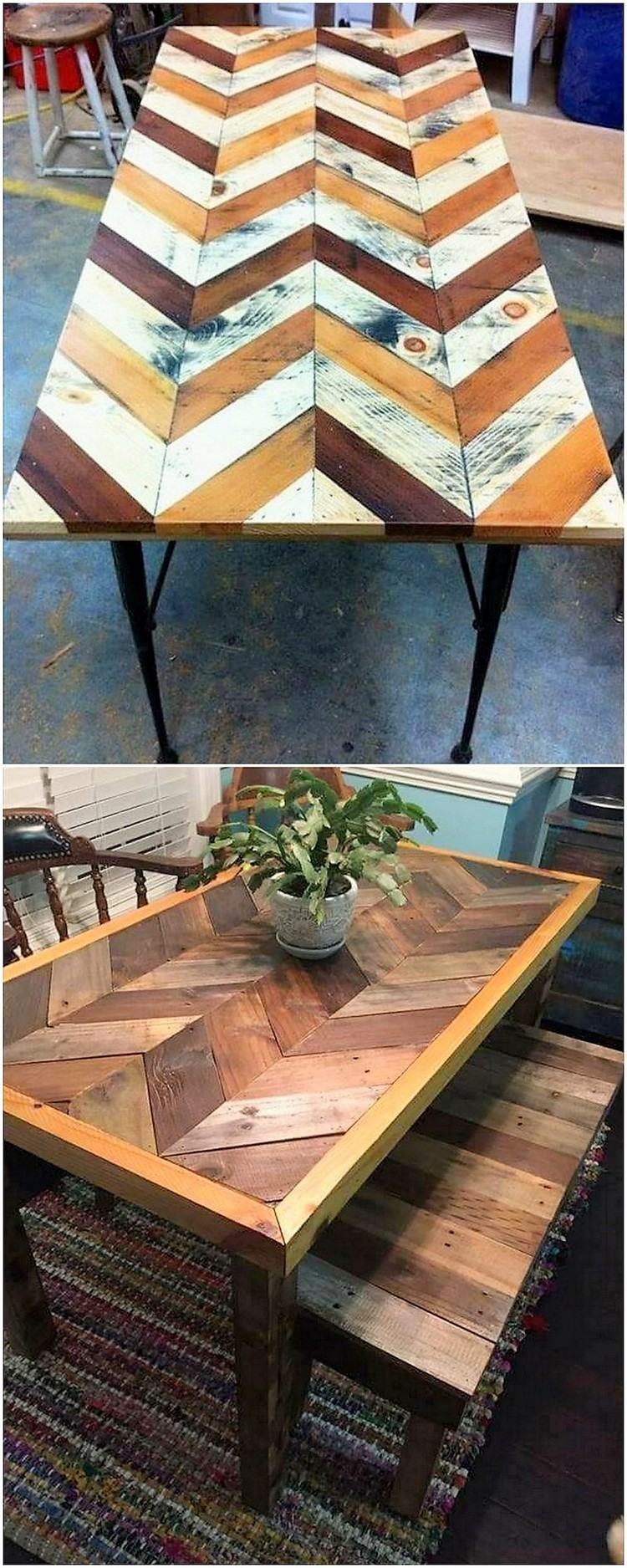 Pallet Breakfast Table and Bench