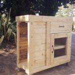 Pallet Cabinet on Wheels