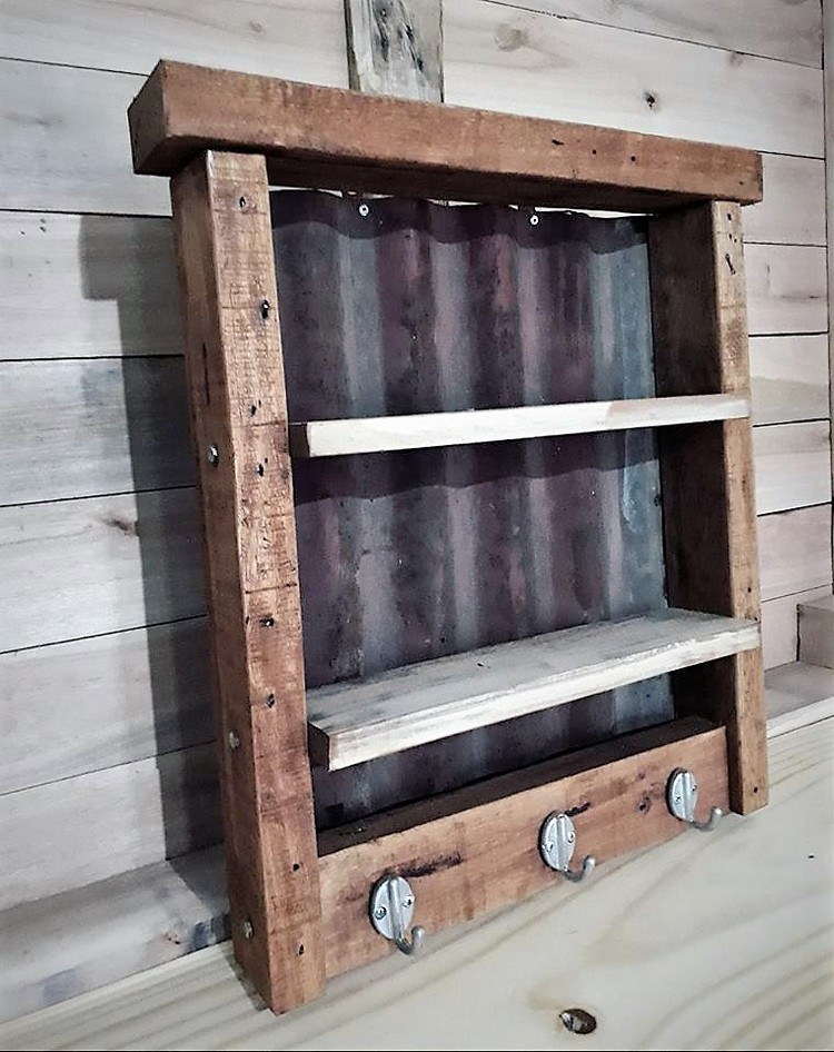 Pallet Coat Rack Shelf