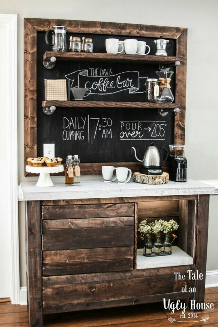 Change look of your house with stylish pallet furnishings for Things in a coffee bar