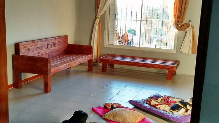 Pallet Couch and Bench