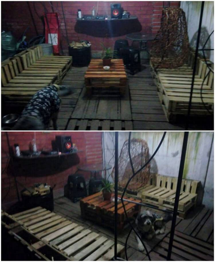 Pallet Outdoor Terrace with Furniture
