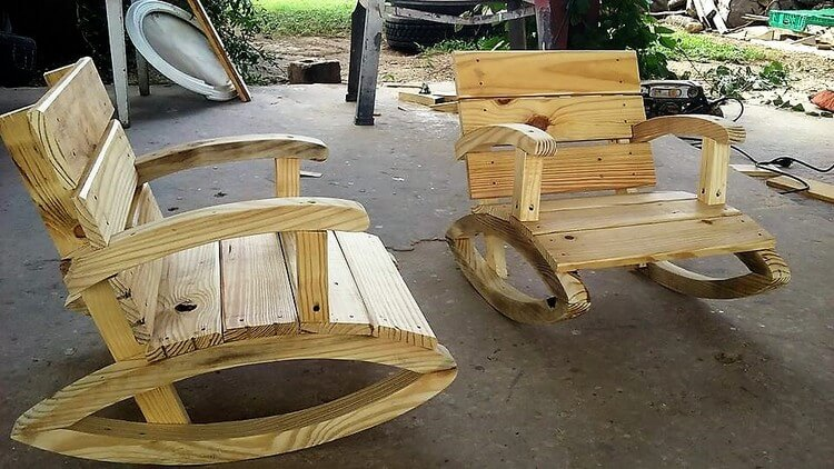 Pallet Rocking Chairs