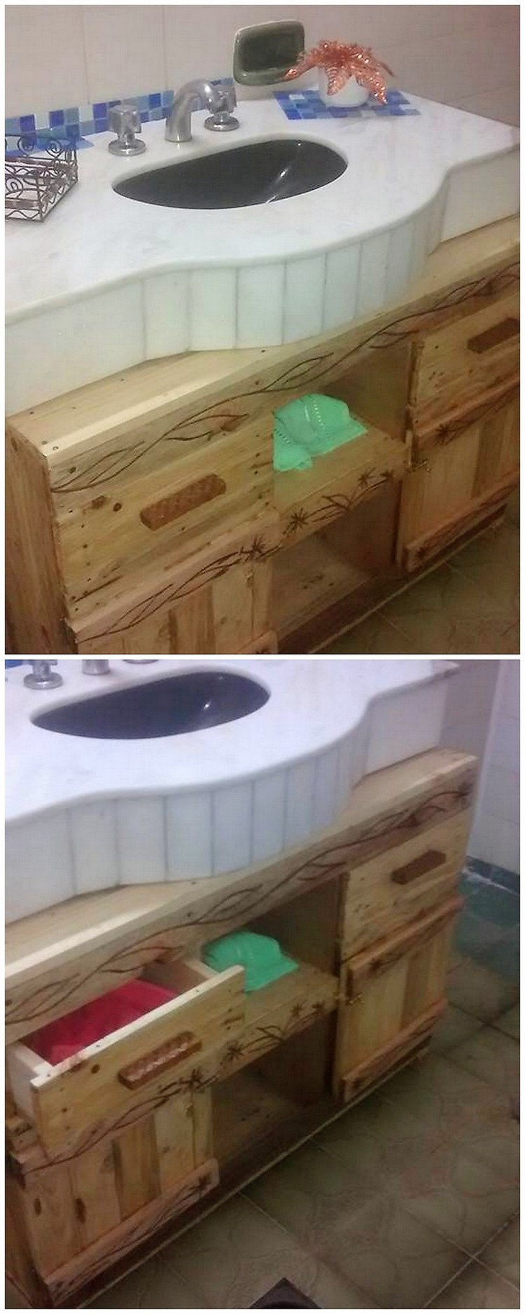 Pallet Sink Cabinets