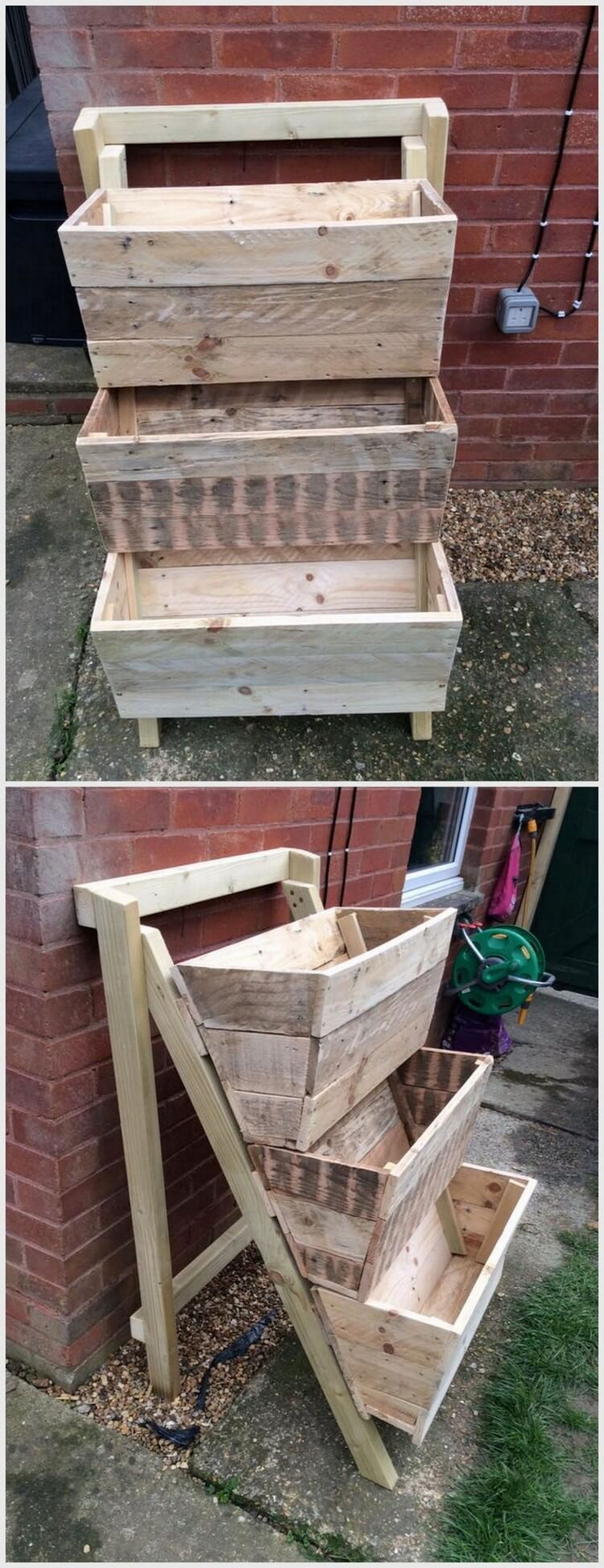 Recycled Pallet Planter Stand