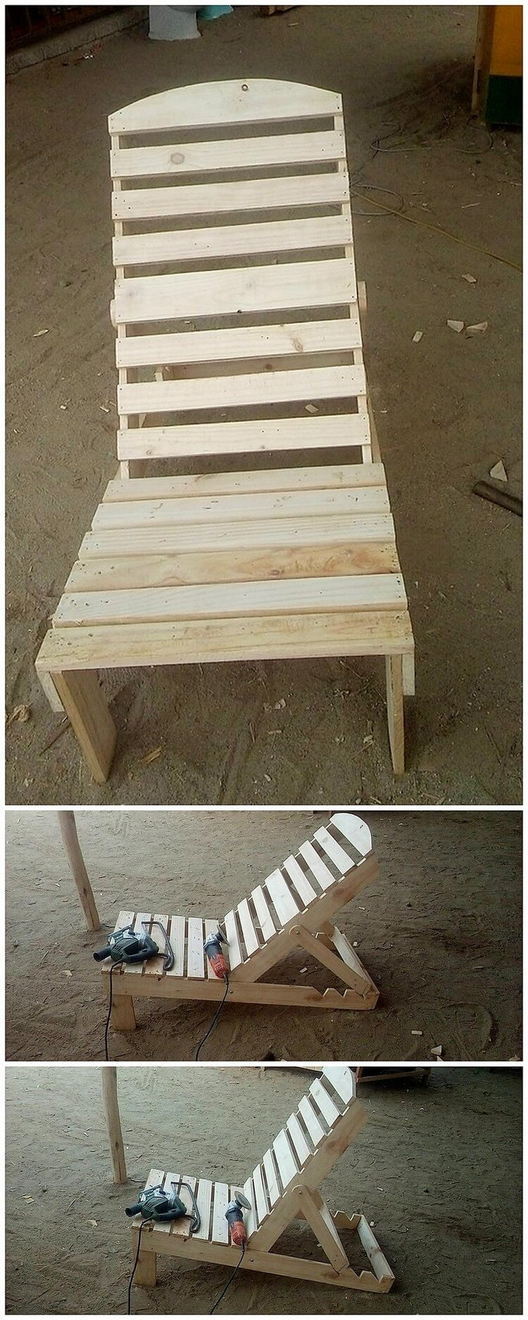 Recycled Pallet Sun Lounger