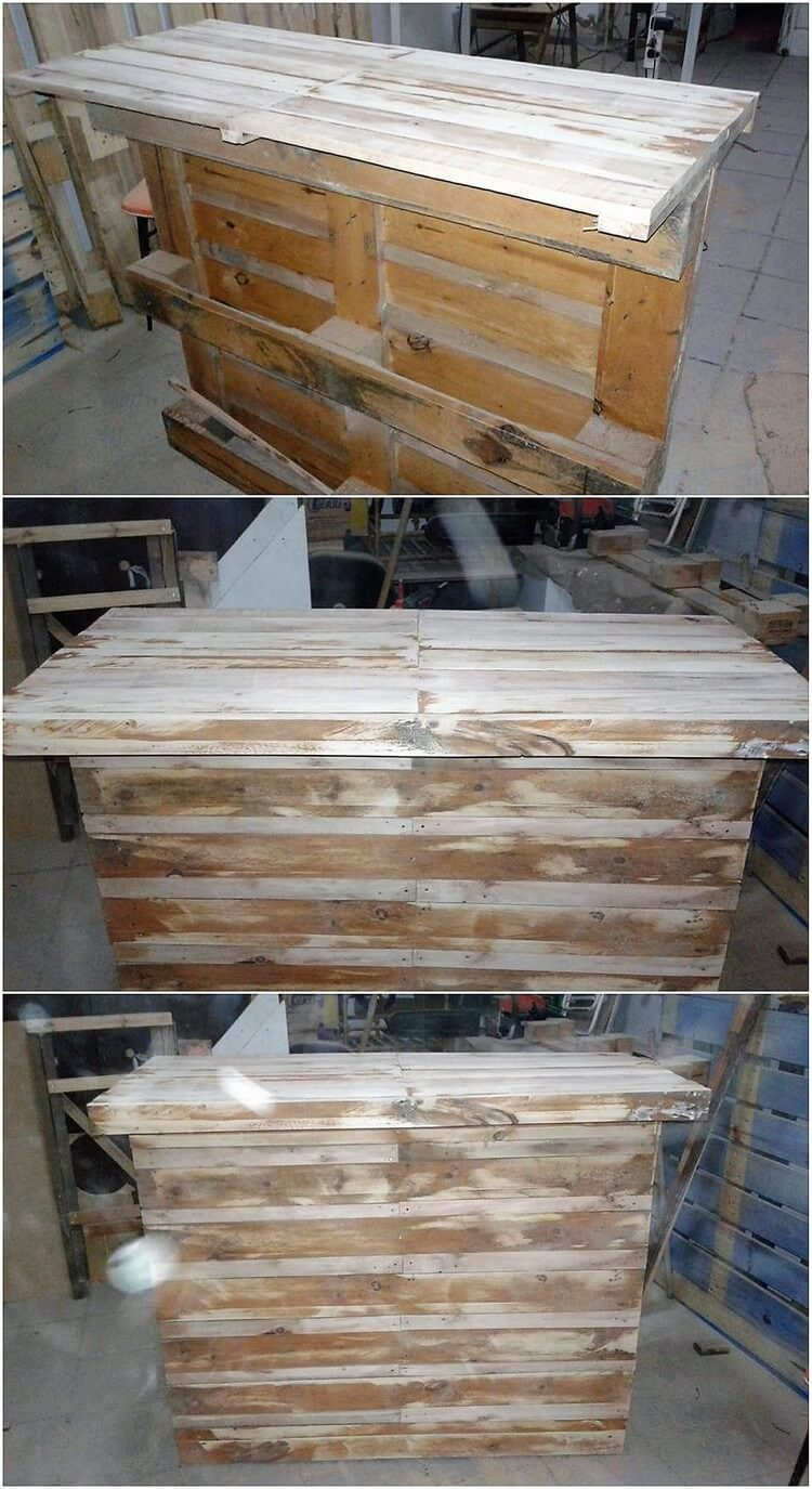 Recycled Wood Pallet Counter