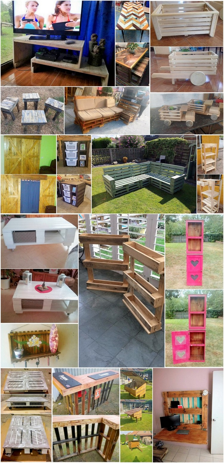 Simple and Useful Shipping Wood Pallet Projects