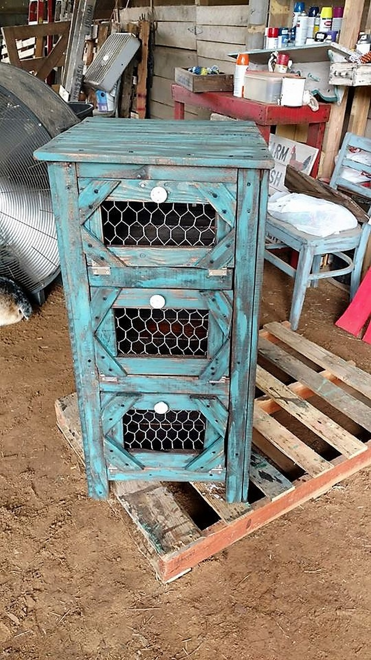 Small Wood Pallet Cabinet
