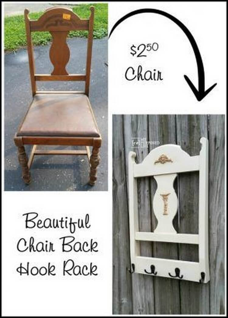 Turn Old Chair into Coat Rack