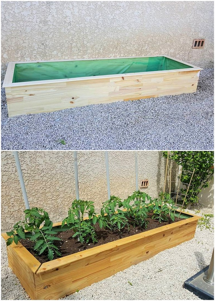Infeasible shipping wood pallet ideas for beginners for Wood pallet herb garden