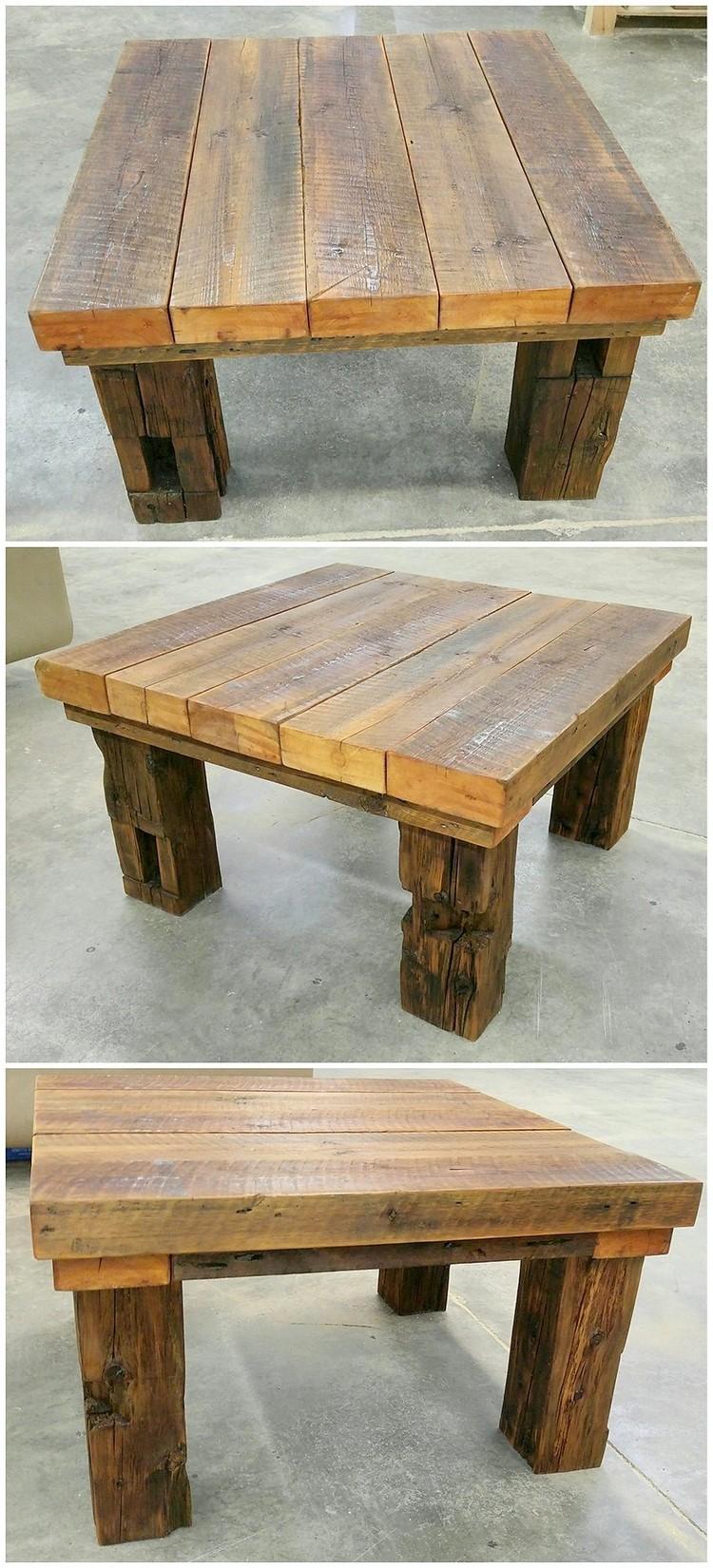 Wood Pallet Mini Table