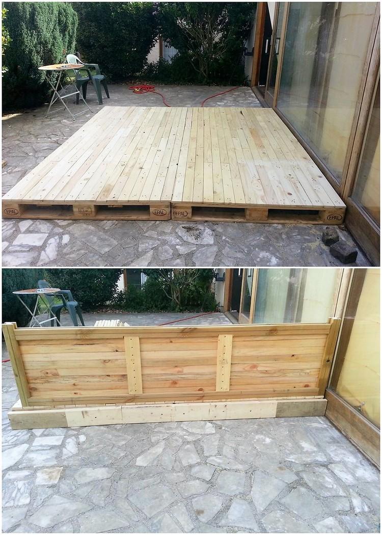 Wood Pallet Terrace