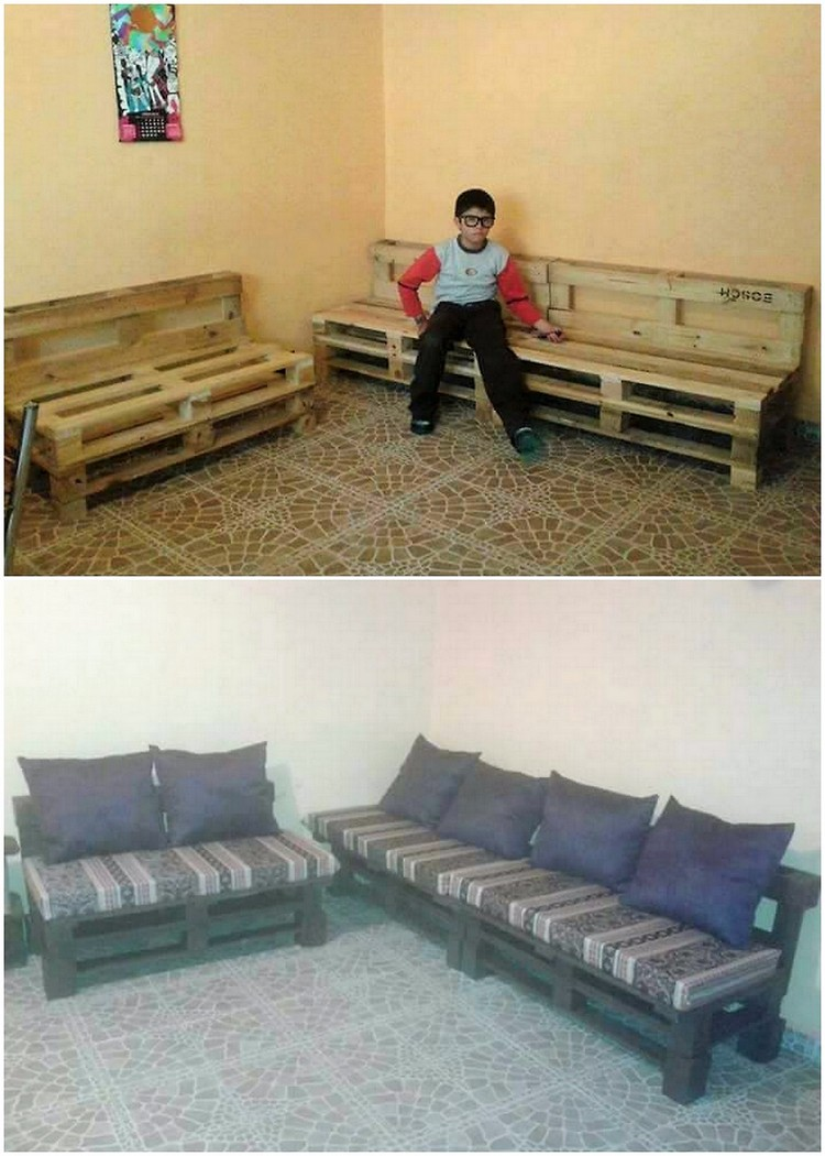 Wooden Pallet Couch