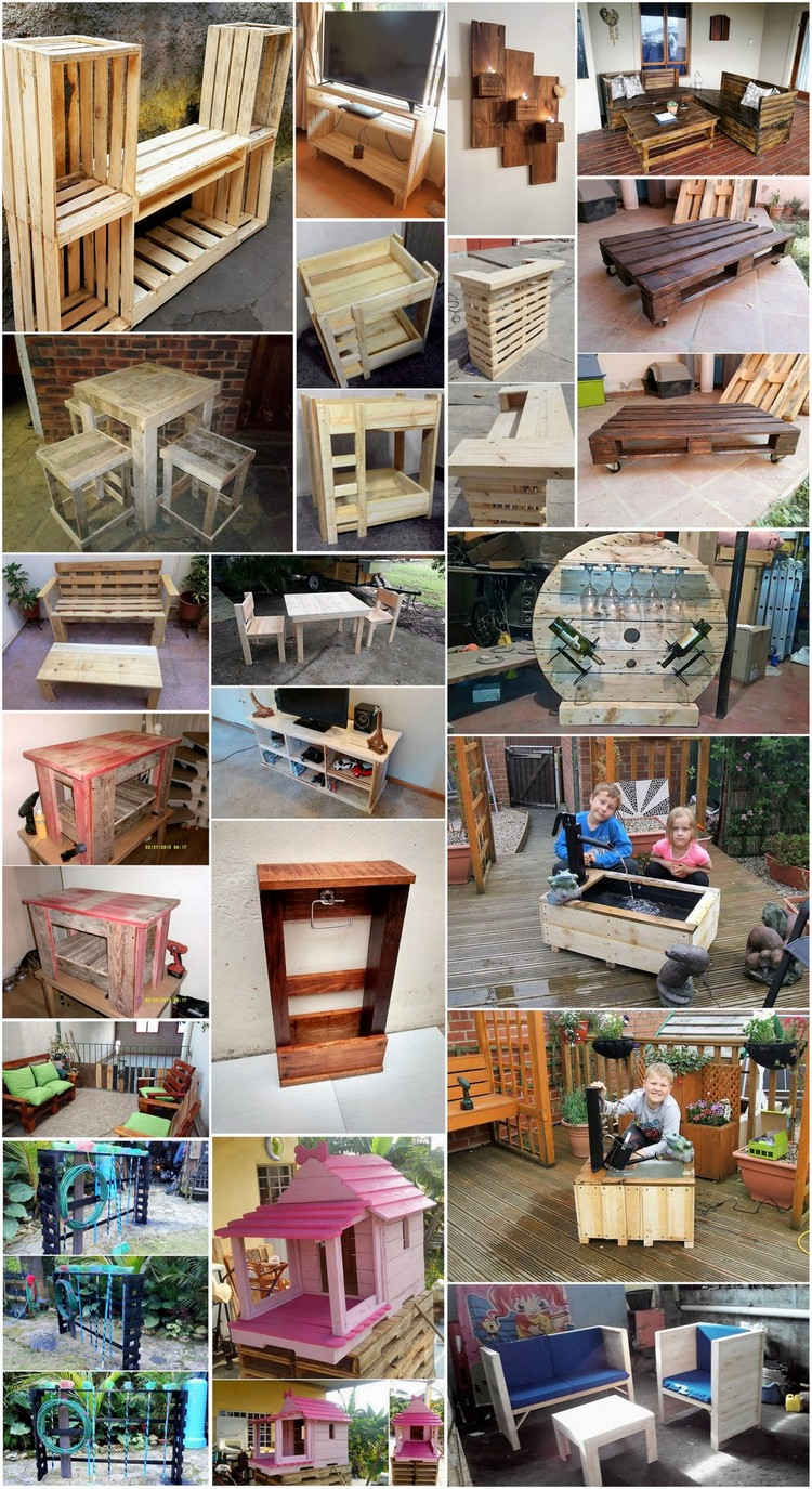 Cheap Ideas to Upcycle Old Wooden Pallets