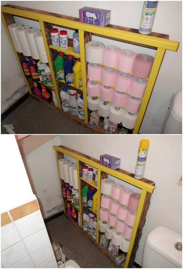 Pallet Bathroom Rack