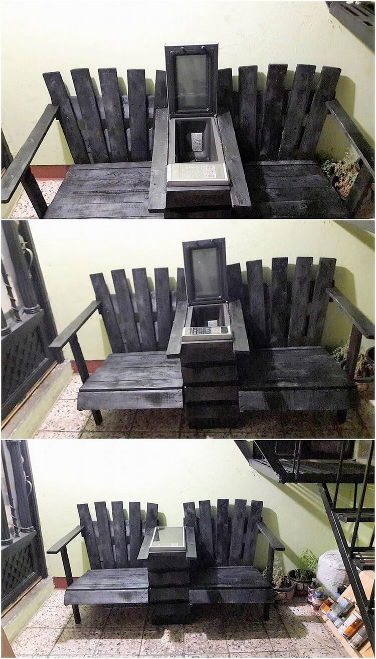 Pallet Chairs with Center Storage