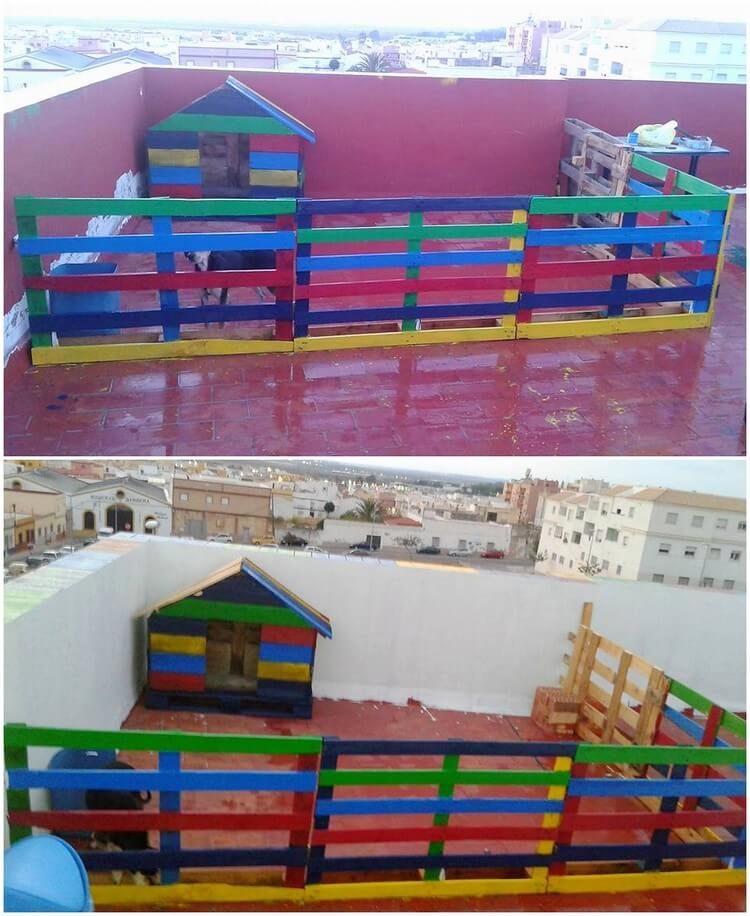 Pallet Pet House and Fence