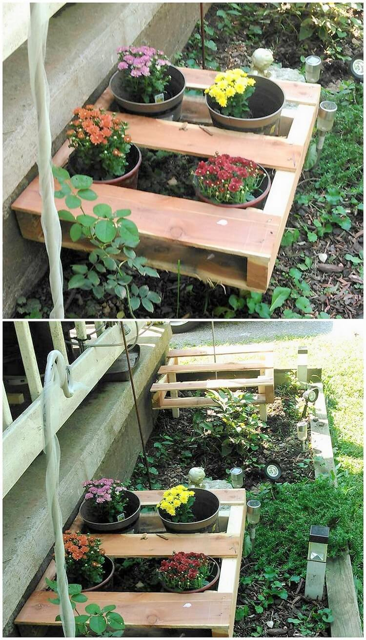 Pallet Planter Pots Holder