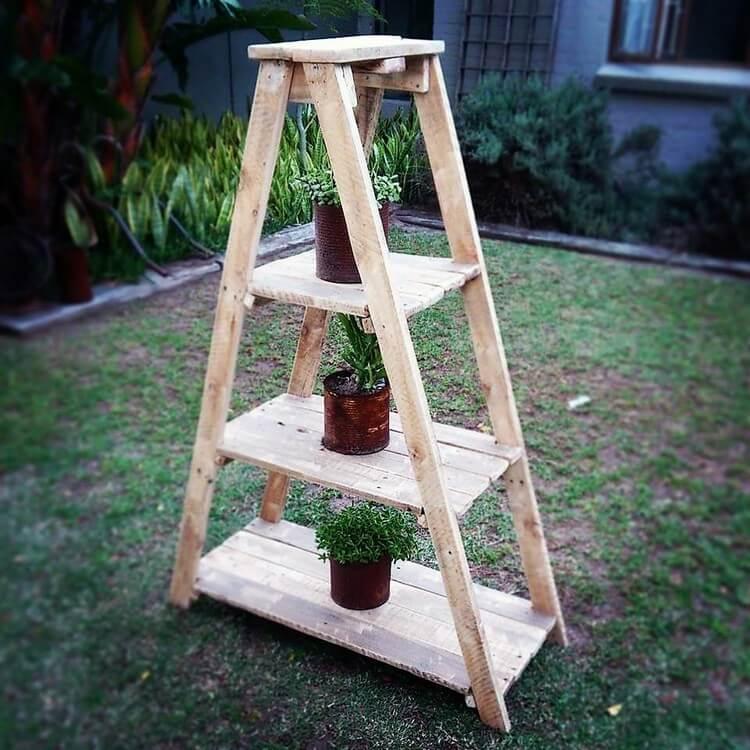 Pallet Planter Pots Stand